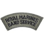 Royal Marines Band Service Cloth Shoulder Title