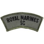 Royal Marines Sea Cadets Scarce Cloth Shoulder Title Badge