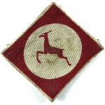 12th Corps Printed Cloth Formation Badge