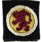 15th Infantry Division Cloth Formation Sign Badge