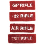 Army Cadet Force Cloth Shooting Qualification Badges