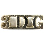3rd Dragoon Guards Anodised Aluminium Shoulder Title