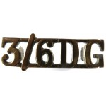3/6 Dragoon Guards Brass Shoulder Title 15mm