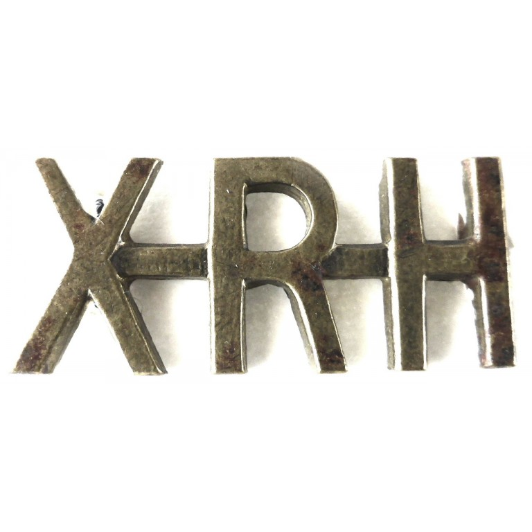 10th Royal Hussars Brass Shoulder Title
