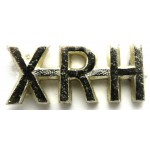 10th Royal Hussars Anodised Aluminium Shoulder Title