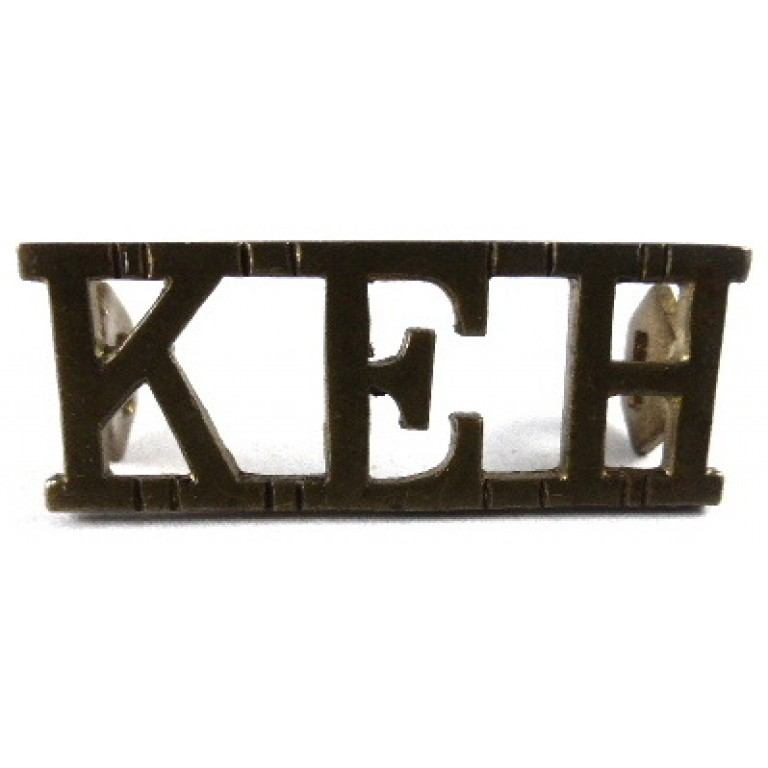 King Edward`s Horse Brass Shoulder Title