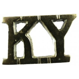 Kent Yeomanry Cast Brass Shoulder Title 16mm