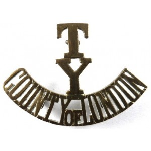 T/Y/County Of London Brass Shoulder Title