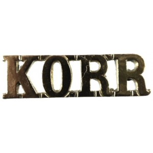 Norfolk Yeomanry Kings Own Royal Regiment Brass Shoulder Title