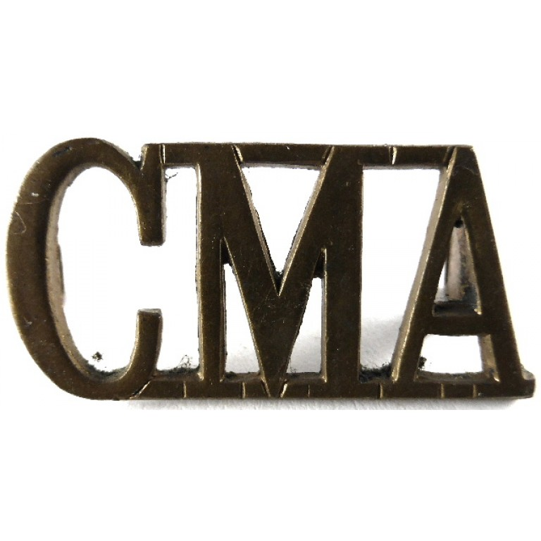 Corps Of Military Accountants Brass Shoulder Title