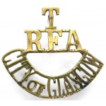City Of Glasgow RFA Territorial Brass Shoulder Title