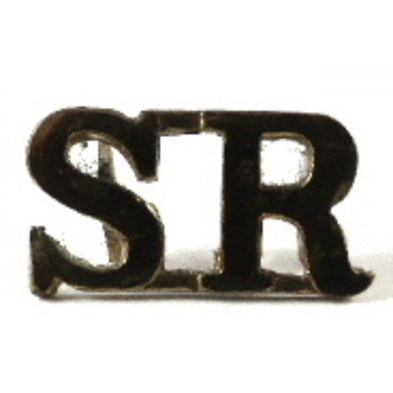 Cameronians (Scottish Rifles) Blackened Brass Shoulder Title 11.67mm