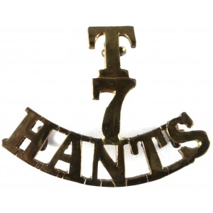 T/7/Hants Brass Shoulder Title