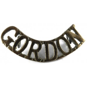 Gordon Brass Shoulder Title