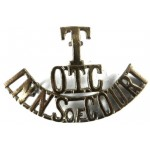 Inns Of Court OTC Brass Shoulder Title Badge
