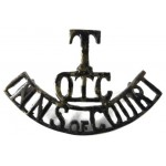 Inns Of Court OTC Blackened Brass Shoulder Title Badge
