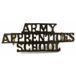 Army Apprentices School Brass Shoulder Title