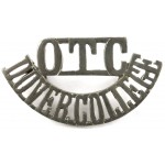 Dover College OTC White Metal Shoulder Title