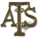 Auxiliary Territorial Service Brass Shoulder Title 21mm
