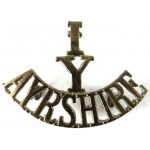 1/Y/Ayrshire Yeomanry Brass Shoulder Title