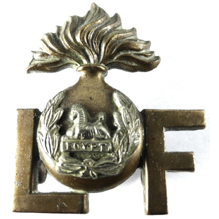 Lancashire Fusiliers Bi Metal Shoulder Title