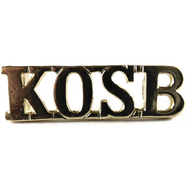 Kings Own Scottish Borderers Anodised Aluminium Shoulder Title Badge 10mm
