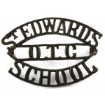 St Edwards School OTC Brass Shoulder Title