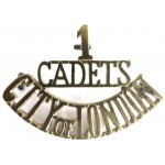 1/Cadets/City Of London Brass Shoulder title