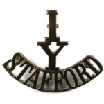1/Y/Stafford Brass Shoulder Title