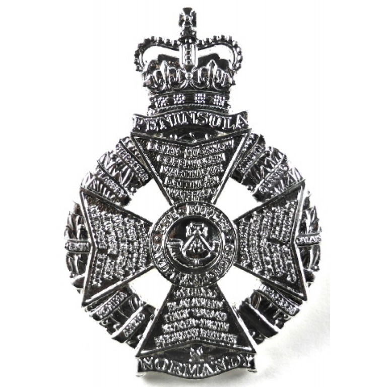The Rifles Cross Belt Badge Bright Plated