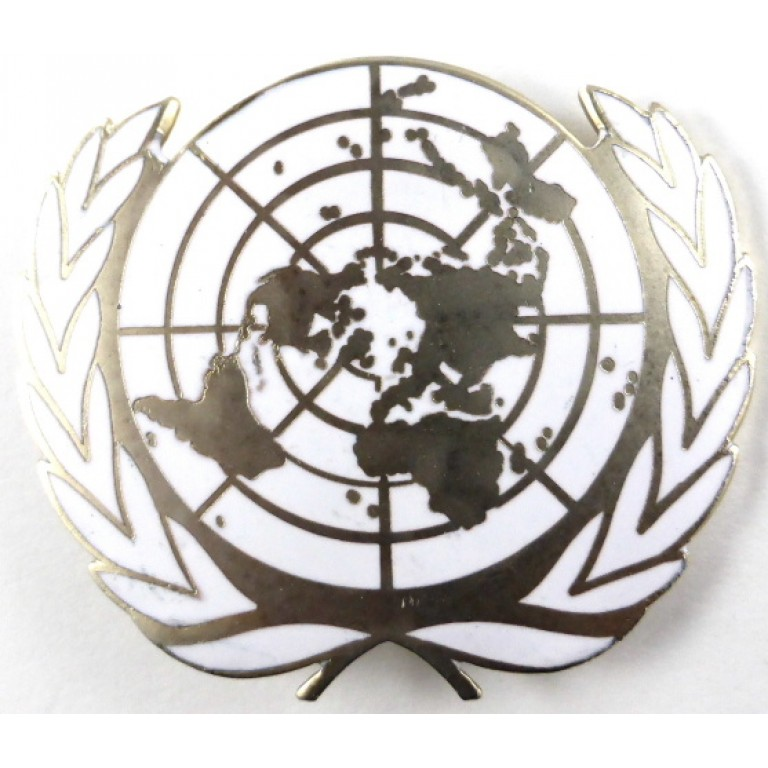United Nations Brass/Enamel Beret Badge