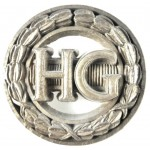 Home Guard WW2 Plastic Economy Cap Badge