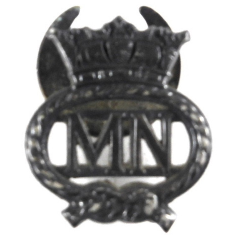 Merchant Navy Silvered Lapel Badge