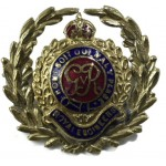Royal Engineers GVR Brass Sweetheart Brooch