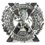 London Scottish White Metal Sporran Badge 44mm Tall