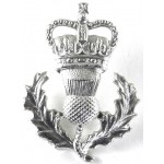 Queens Own Highlanders Anodised Aluminium Sporran Badge 45mm Tall