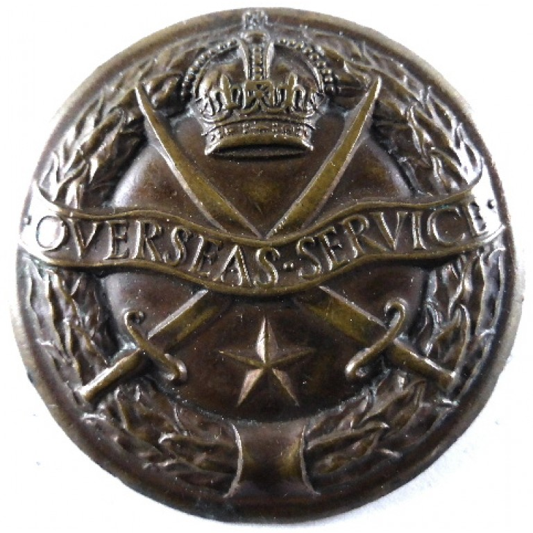 Overseas Service Indian Army WW2 Bronze Badge