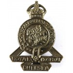 Royal Chelsea Hospital Staff Brass Pre 1953 Cap Badge