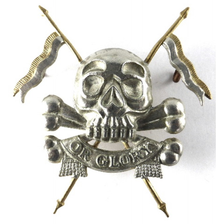 17/21st Lancers Bi Metal Band Pouch Badge