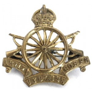 Army Cyclist Corps Brass Sweetheart Badge