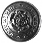 West Riding Constabulary Large Black Composition Button 25mm