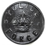 Police Force Large Composition Button Pre 1953 24mm