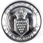 Cornwall Constabulary Large Chrome Button Pre1953 25mm