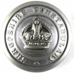 Shropshire Constabulary Large Pre 1953 Chrome Button 25 mm