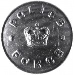 Police Force Large Composition Button Post 1953 25mm