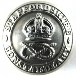 Staffordshire Constabulary Pre 1953 White Metal Button 24mm