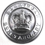 Glamorgan Constabulary Large Chrome Button 26mm