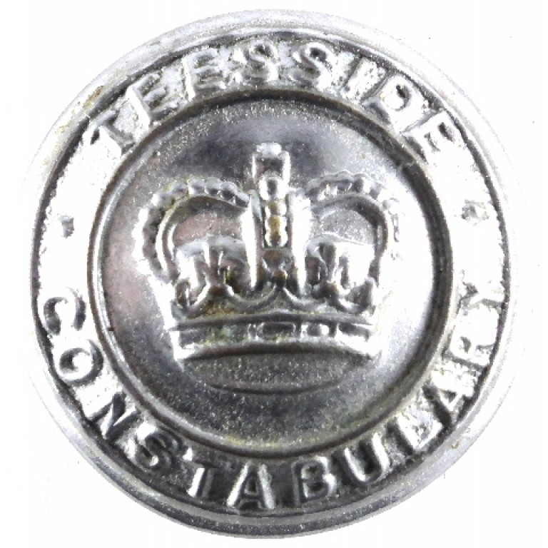 Teesside Constabulary Large Chrome Button 24mm