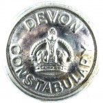 Devon Constabulary Large Chrome Button 24mm