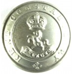 Kent Constabulary Large White Metal Button 24mm